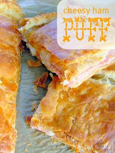 "Cheesy Ham Puff - ""There's nothing better than crispy, buttery puff pastry dough....especially when it is wrapped around mozzarella and ham."""
