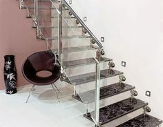 glass staircas, interior design, stairs, staircas design, beauti staircas