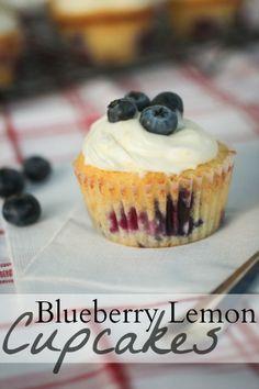 The Freckled Fox : Em's Blueberry Lemon Cupcakes