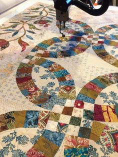 A different version of double wedding ring - I like it  Laundry Basket Quilts Blog | Today's Quilts, Tomorrows Memories.