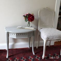 great painted furniture, chair and table - French furniture by Lilyfield Life Sydney