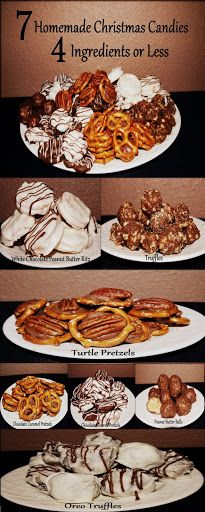 7 Homemade Christmas Candies,  4 Ingredients or Less  The Perfect Christmas Gift!