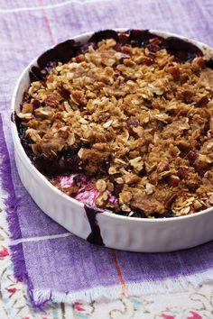 Blackberry Crisp with Maple-Pecan Topping