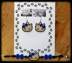 Handmade beaded Hello Kitty earring/bracelet set. $30.00 plus shipping