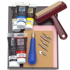 Kit Speedball Para Xilogravura  http://www.frutodearte.com.br/index.php?cPath=35_631
