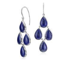 NEW Lapis Statement Earrings in Sterling Silver | #Jewelry #Style