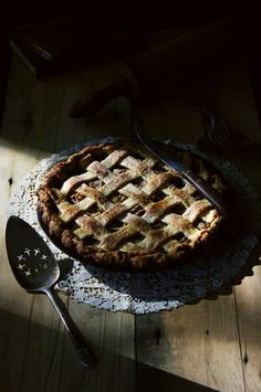 {Lovely light. Beautiful crust. Scrumptious filling.} Spiced Pear, Gorgonzola, & Toasted Walnut Pie in a Buttermilk Leaf Lard Crust | {local milk}