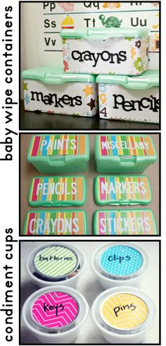 Clutter-Free Classroom: Classroom Storage Containers {Frugal & Upcycled Options}
