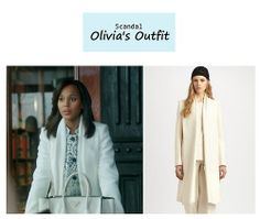 "On the blog: Olivia Pope's (Kerry Washington) white coat | Scandal - ""Kiss Kiss Bang Bang"" (Ep. 314) #tvstyle #tvfashion #outfits #fashion #gladiators"