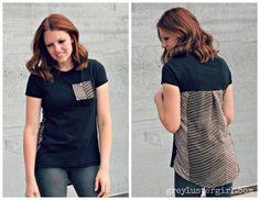anthropologie pattern pop shirt refashion