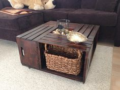 Wooden Crate Coffee Table by Olivabella on Etsy, $400.00 - Oooh Dad, this would be easy to make!