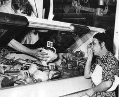 Meat market, 1940s