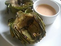 Grilled Artichokes with Spicy Garlic Aioli - COOKING - Knitting, sewing, crochet, tutorials, papercraft, jewlery, needlework, swaps, cooking and so much more on Craftster.org