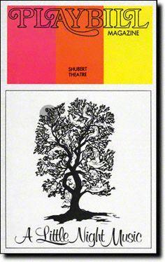 A Little Night Music : Playbill Covers  Playbill Cover for A Little Night Music at Shubert Theatre 1973-1974