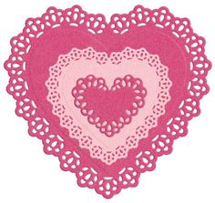 Nesting Doily Hearts die by Lifestyle Crafts. Compatible with leading die-cutting machines. $24.99
