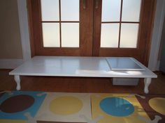 Doubles as Sensory and Light table.