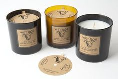 Wet Dog Candles in a