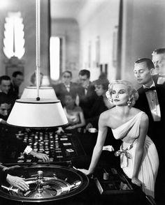 Richard Avedon (1923-2004), Sunny Harnett, Evening Dress by Gres, Casino, Le Toquet, France, August, 1954.