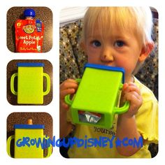What a super idea for feeding the independent toddler on the go without a big mess!