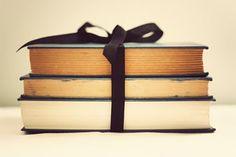 books, vintage, bow.