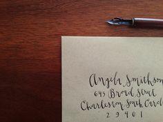 fun modern calligraphy