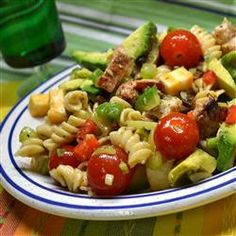 """Chicken Club Pasta Salad 