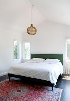 blue velvet, light fixtures, white bedding