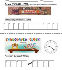 Lesson & worksheets about form