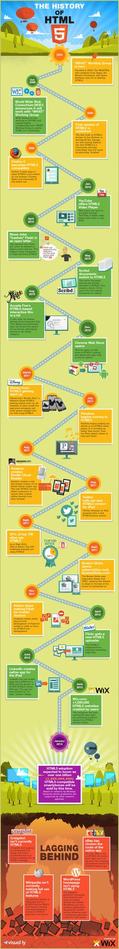 The history of #HTML5. #infografia #infographic #Internet