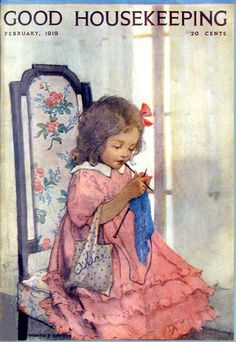 Knitting, Jessie Wilcox Smith