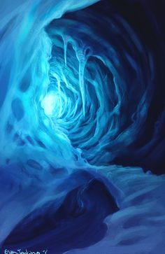 Ice Cave by EvanJenkins.deviantart.com on @deviantART