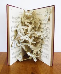Book art butterflies