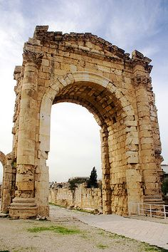The remains of the ancient Triumphal Arch in Tyre, Lebanon