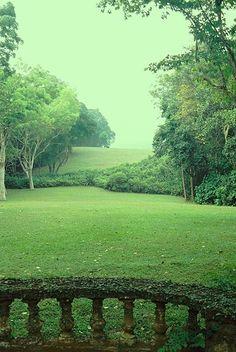 Lunuganga, experimental home garden of the Sri Lankan architect Geoffrey Bawa, outside Bentota, Sri Lanka. Started in 1947 and evolved until 1998.