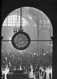 Penn Station ~ 1943 ~ Photograph by Alfred Eisenstaedt