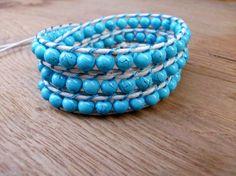 Wrap bracelet/Blue bracelet/Bohemian by Theworldofjewelry on Etsy