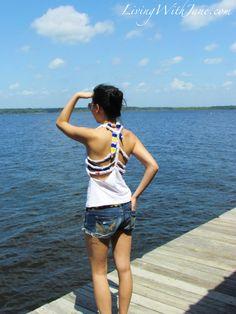 DIY: Braided Back Shirt  Summer
