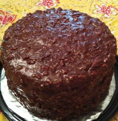 """Canasta Cake  ~  Rich, chocolately goodness. Old Memphis recipe from years ago. """"Y'all will forget about every other chocolate cake you have ever eaten."""""""