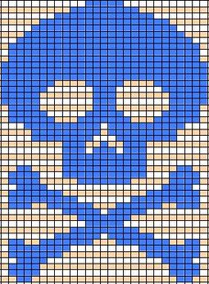 skull knitting chart - Google Search
