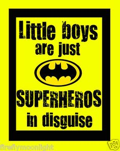 """""""Little Boys Superhero"""" -would be cute to do a painting of this on a boys room with the logos of other super heroes around it"""