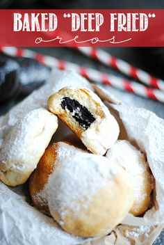Baked Deep Fried Oreos are just as yummy as the real fair food but without the mess and the fat!