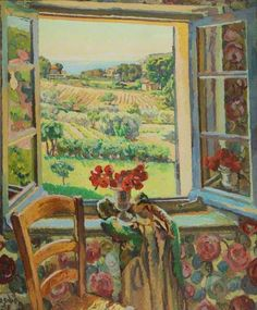 Duncan Grant 'Window, South of France' 1928 - First Known When Lost