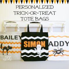 DIY personalized trick-or-treat tote bags at diyshowoff.com