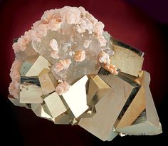 Pyrite cubes with Fluorite and Dolomite. Wow!