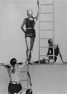 Horst and Models, Swimwear by Lelong, 1929