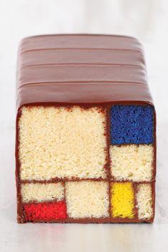 funny. mondrian cake