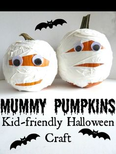 Mummy Pumpkins with Duck Tape