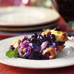 Our Best Bread Pudding Recipes  | Blueberry Bread Pudding | MyRecipes.com
