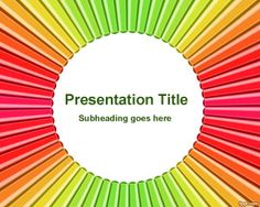Free Radial Color Pen PowerPoint Template is a free colorful template background for school presentations or elearning projects for elementary school