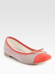Repetto Flora Two-Tone Suede Ballet Flats  $290.00